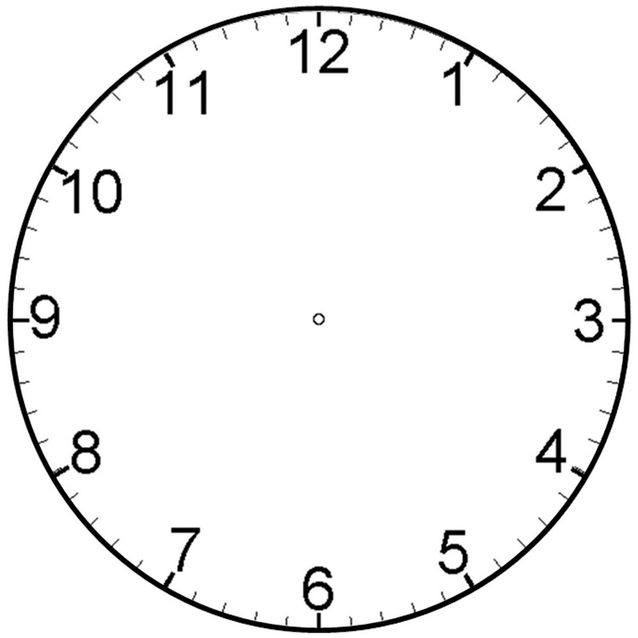 clock face with minutes printable clipart