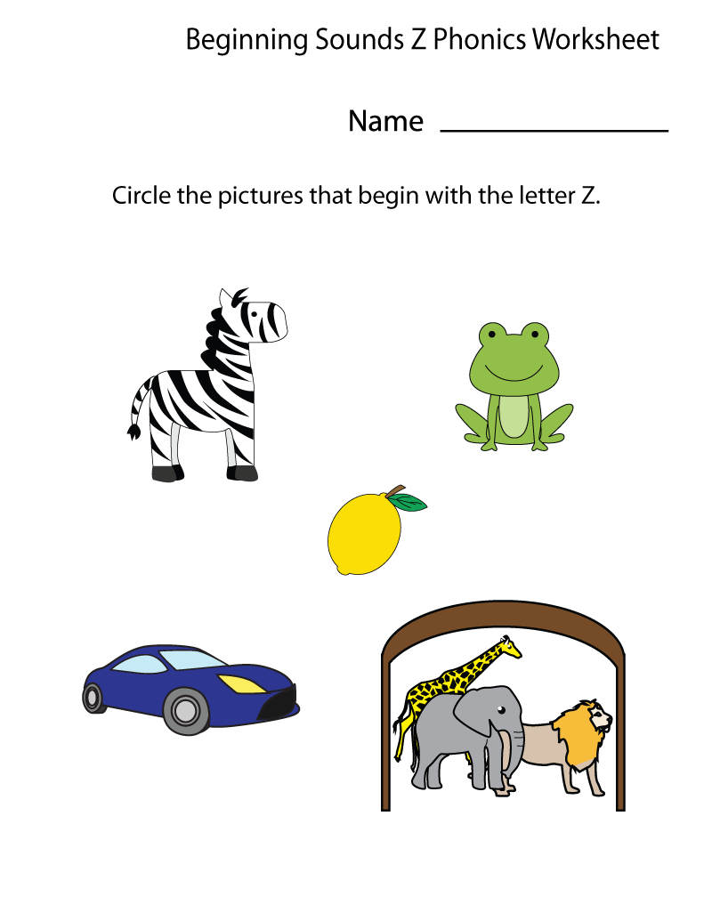 letter z worksheets for preschool fun