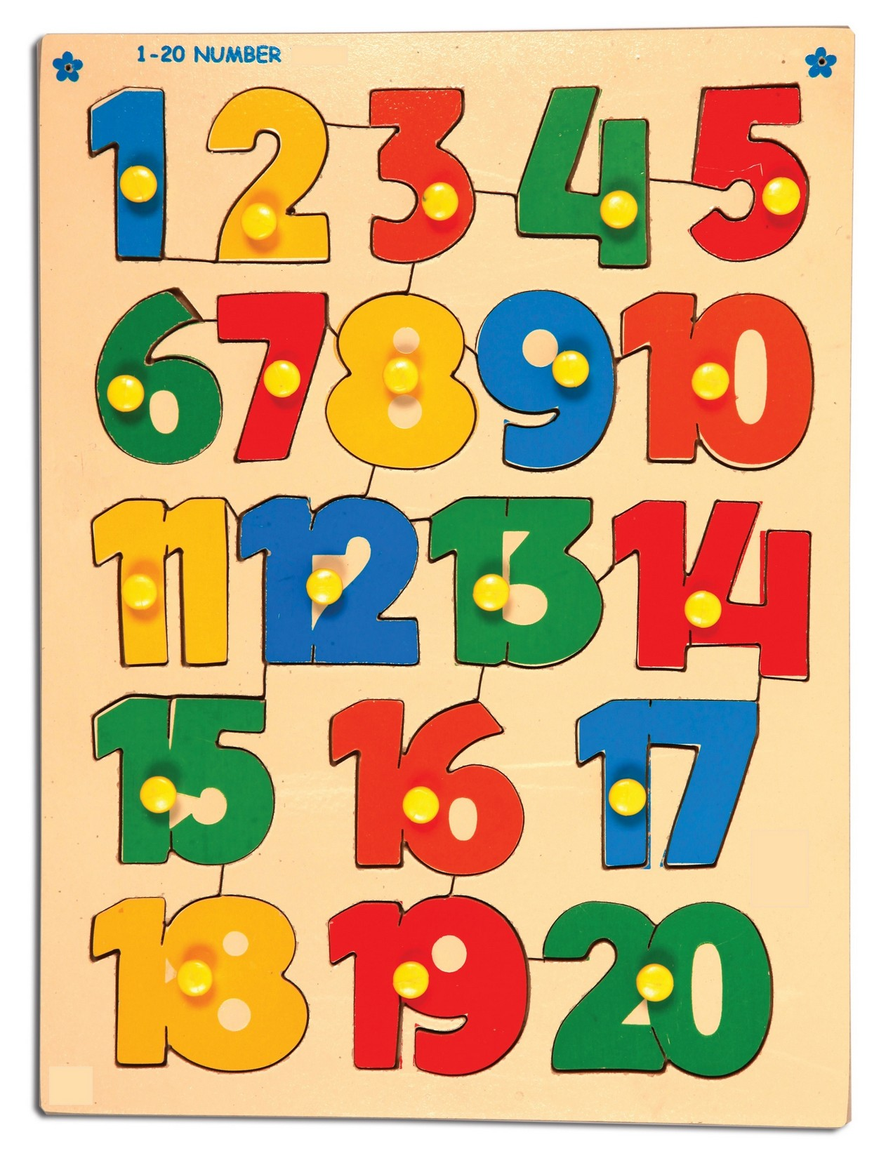 numbers 1-20 printable for kids