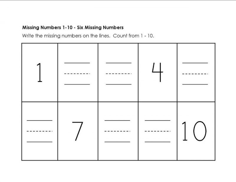 numbers to 10 worksheet activity