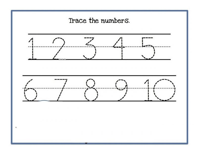 numbers to 10 worksheet for kids