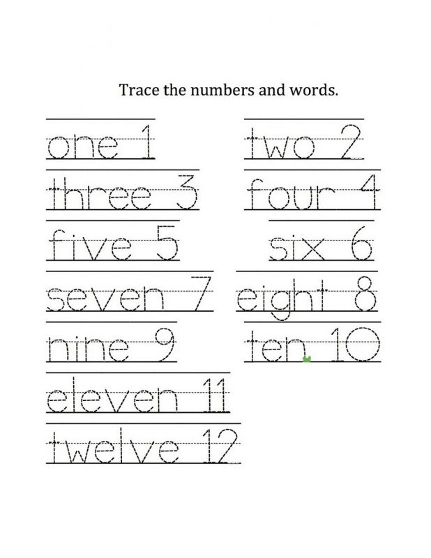 numbers to 10 worksheet page