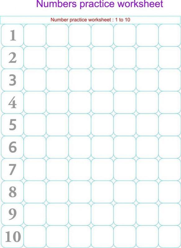 numbers to 10 worksheet practice