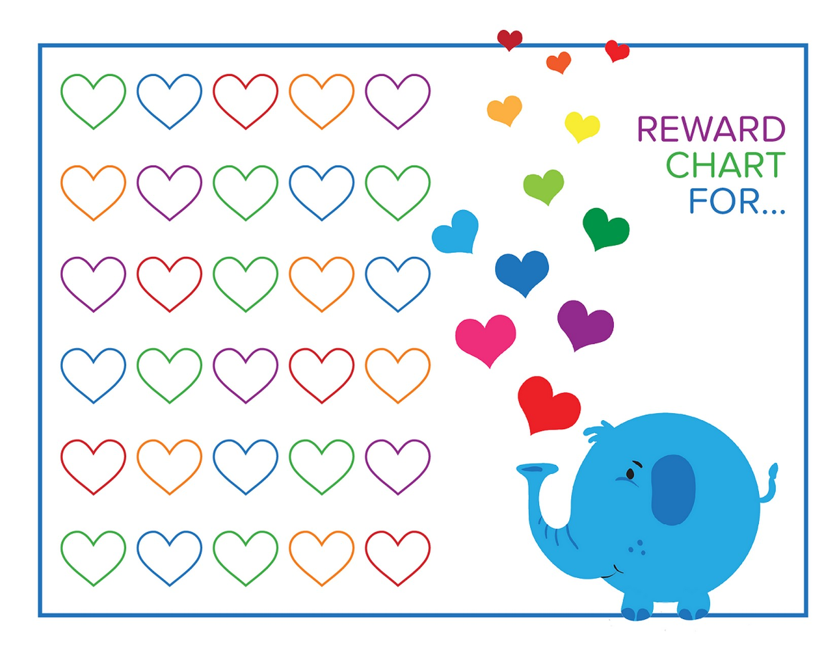 reward charts for kids rainbow