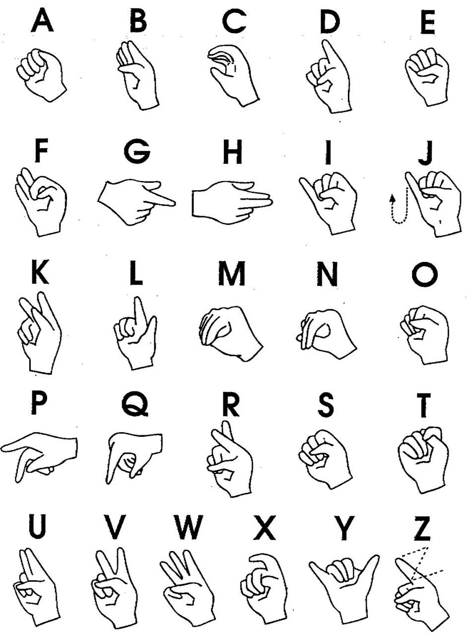 sign language chart printable