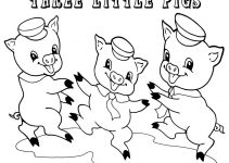 three little pigs coloring pages for preschool fun