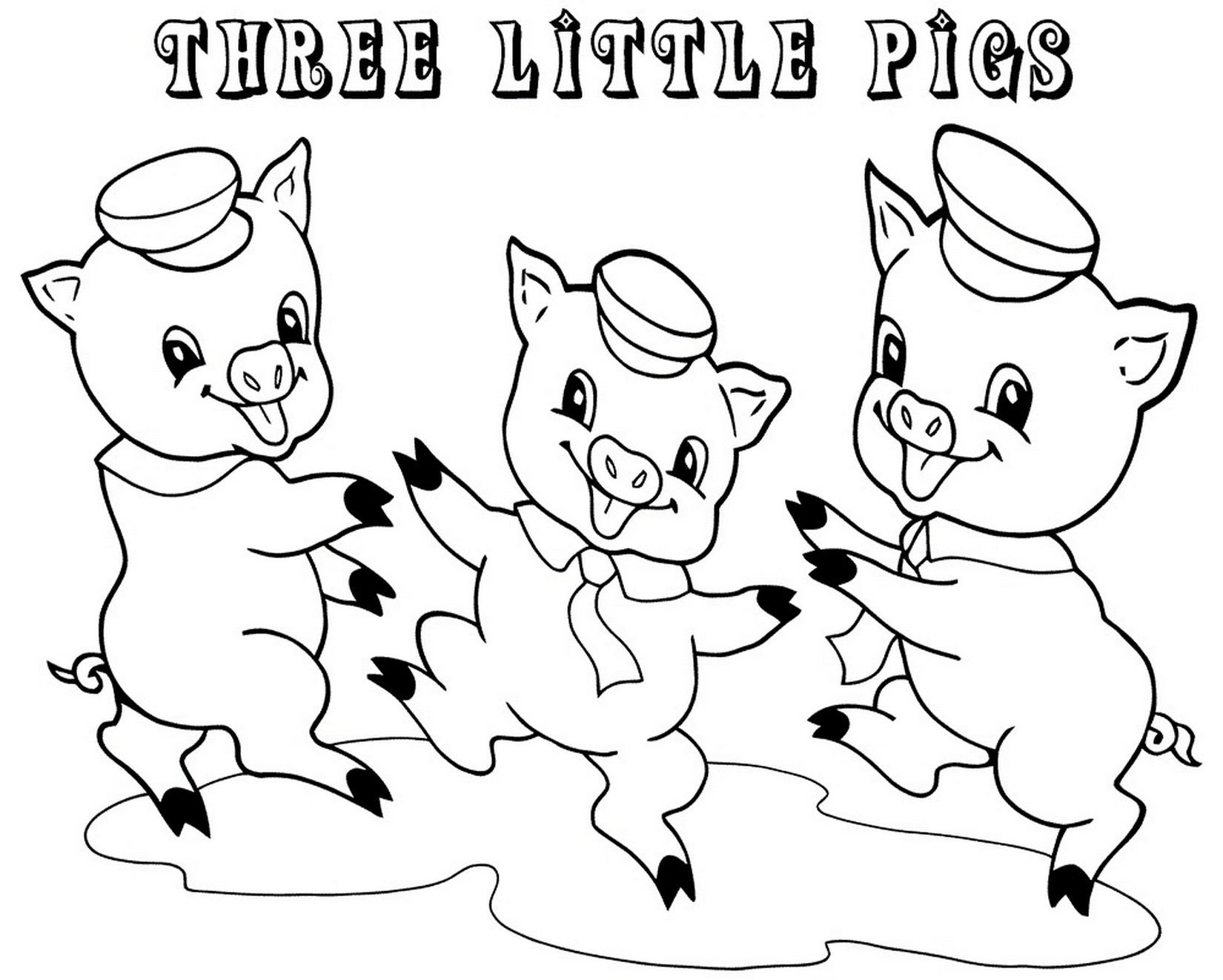 three little pigs coloring pages for preschool learning printable