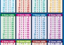 time table 1 to 12 page