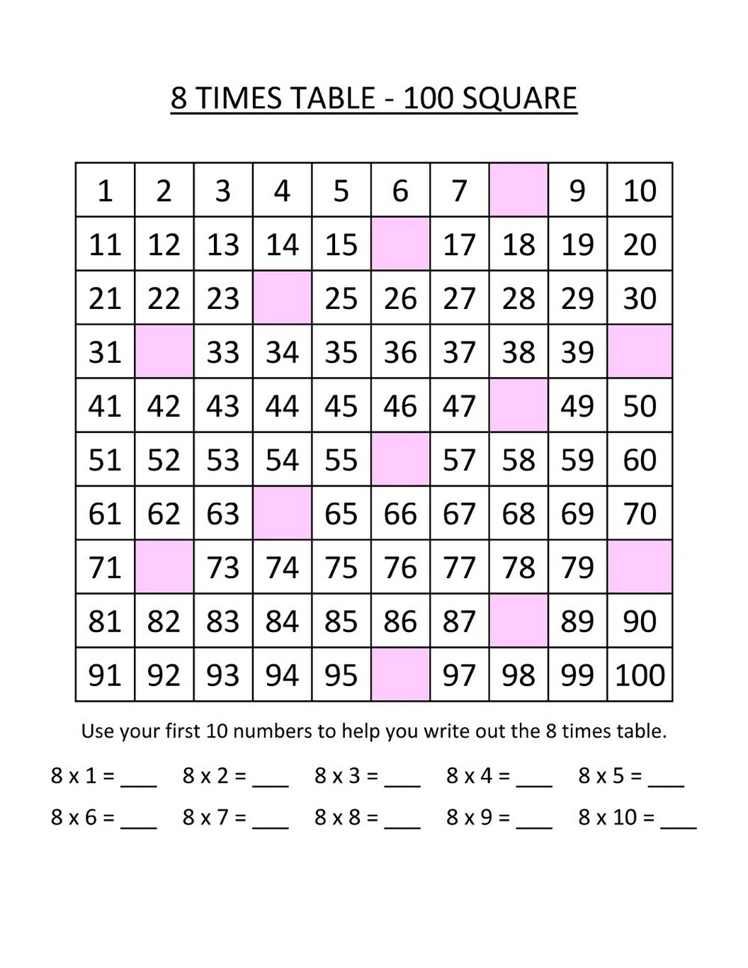 times tables practice sheets printable page