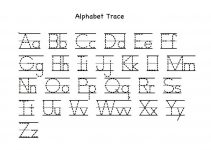 traceable alphabet a-z for kids