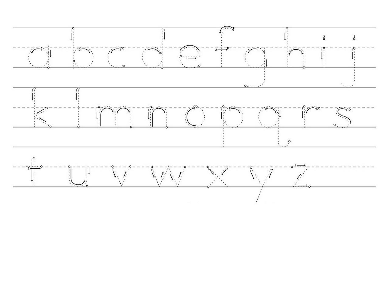 traceable alphabet a-z practice