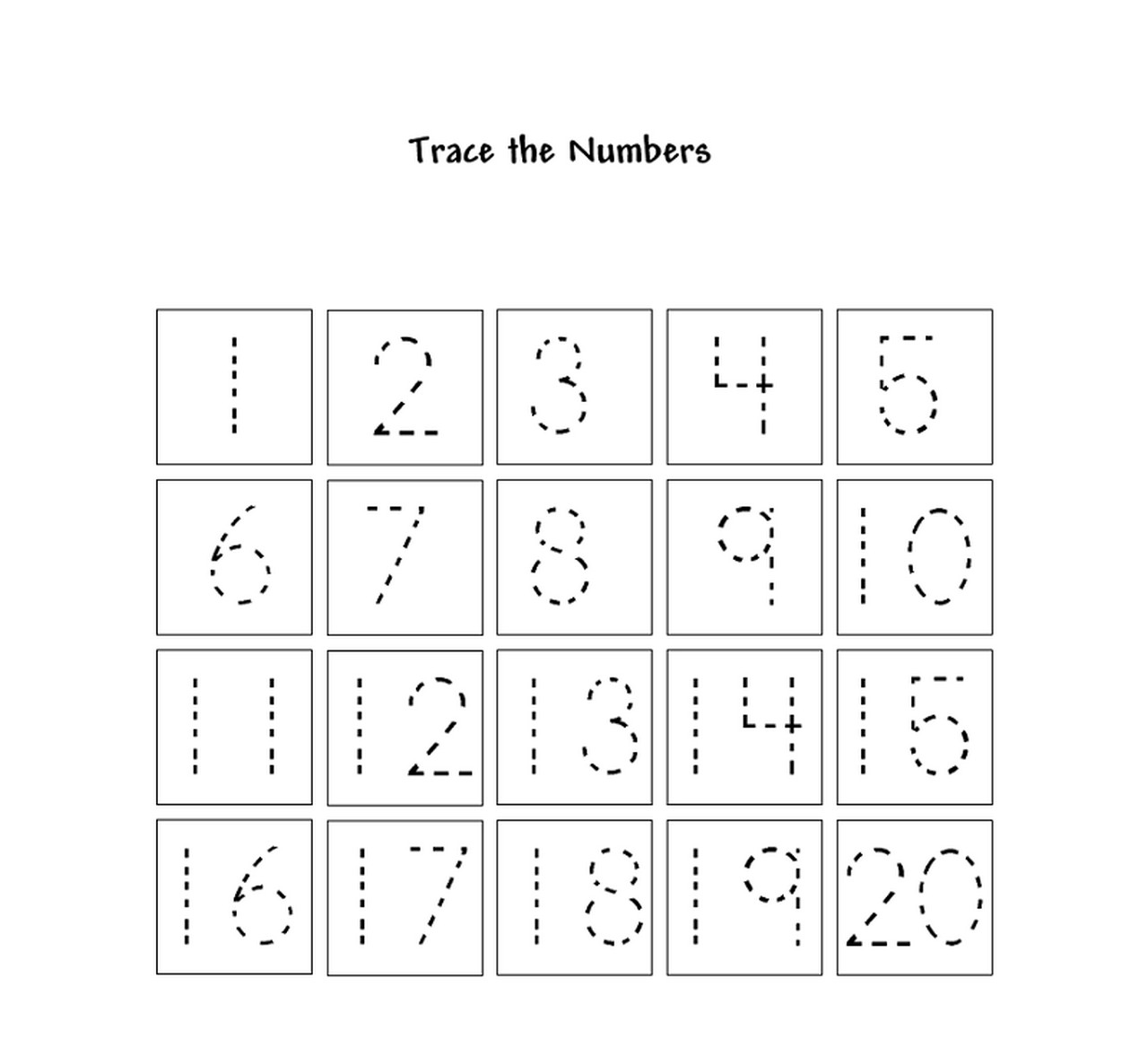 Traceable Number for Kids | Learning Printable