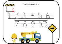 tracing numbers 1-10 worksheet page
