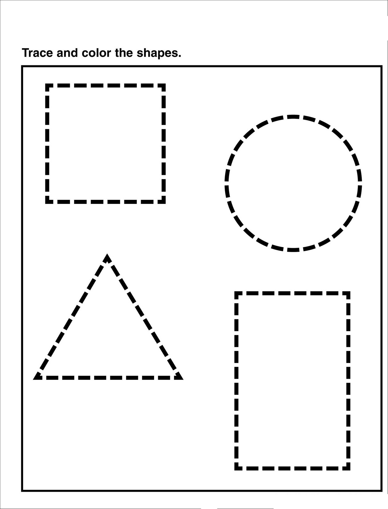 tracing pages for preschool shape