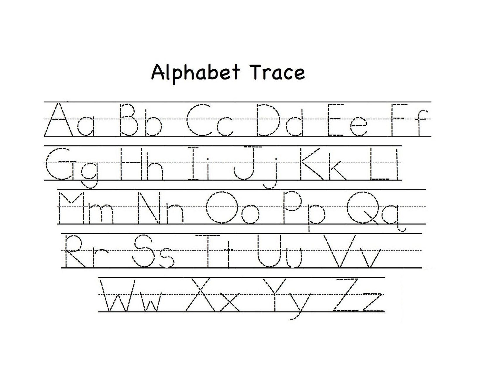 Uppercase And Lowercase Letters Tracing Worksheet Fun