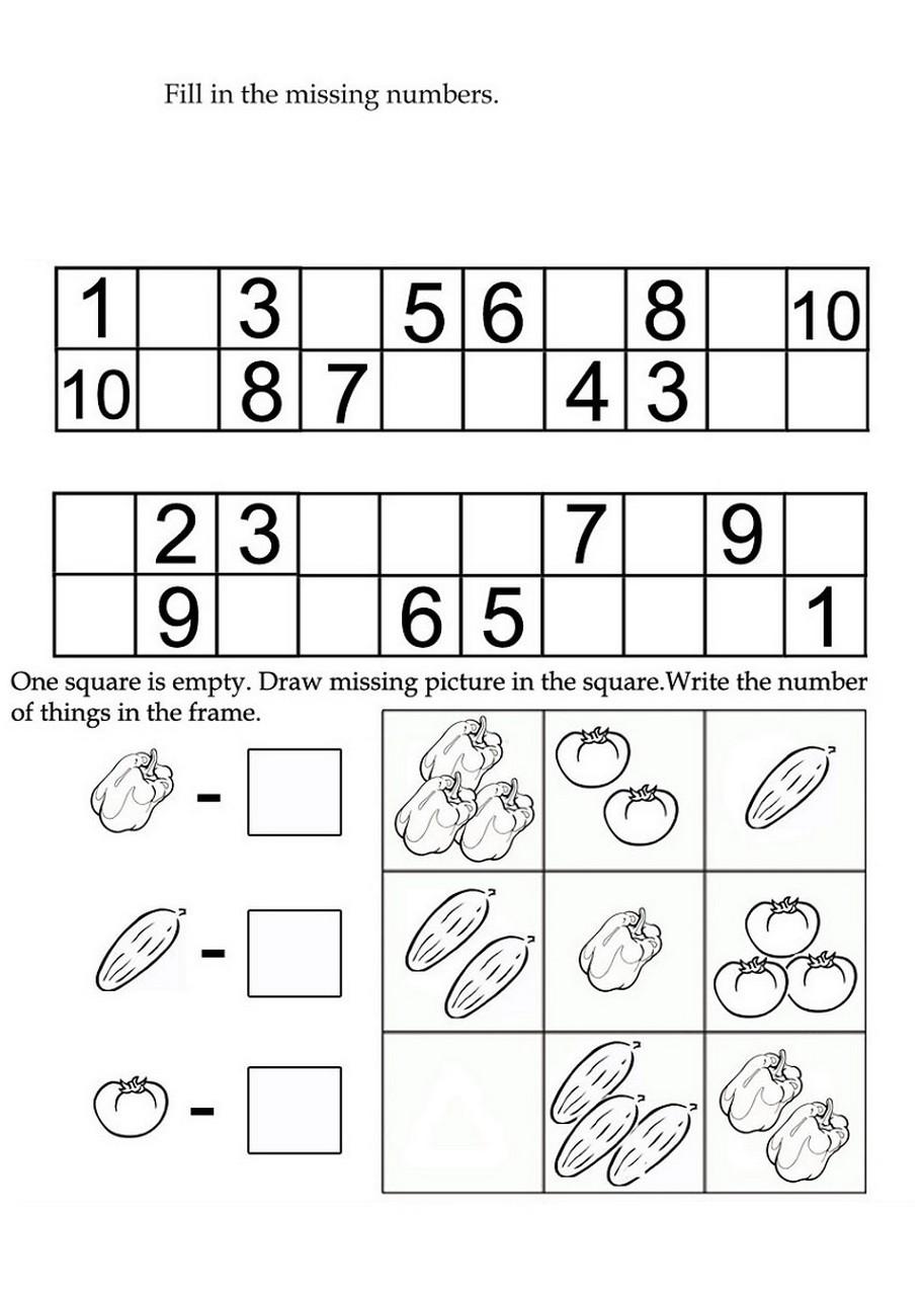worksheets for kindergarten practice