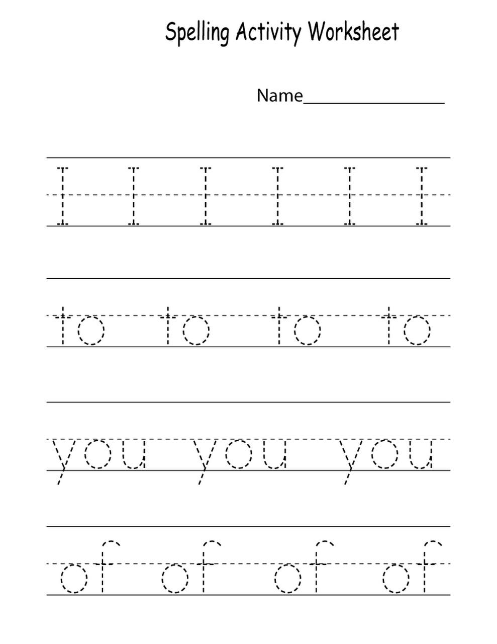 worksheets for kindergarten printable