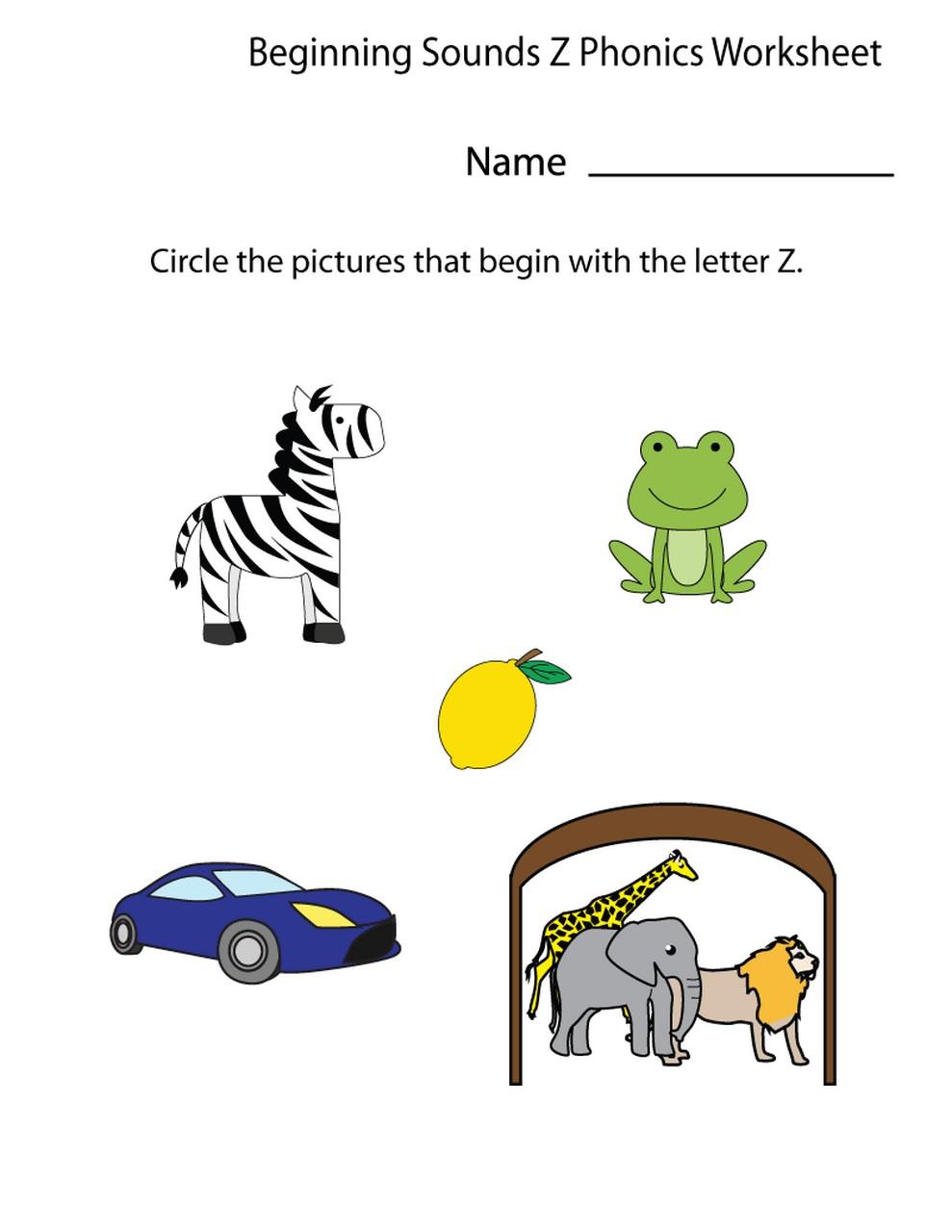 z worksheets printable fun