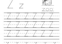 z worksheets printable tracing