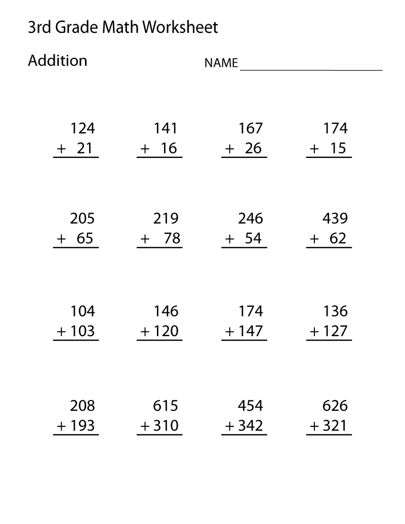 Worksheets 3rd Grade Math Printable Worksheets 3rd grade printable worksheets learning math