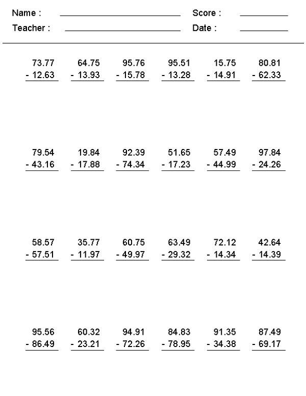 7th Grade Math Worksheets | Learning Printable
