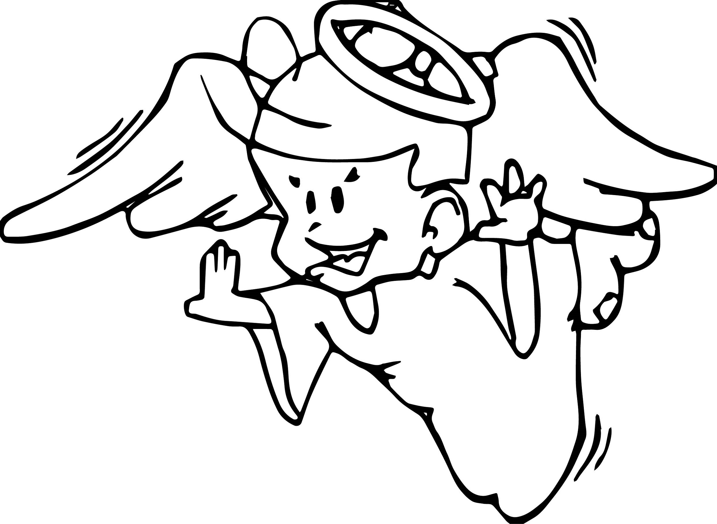 Angel Coloring Pages for Boys