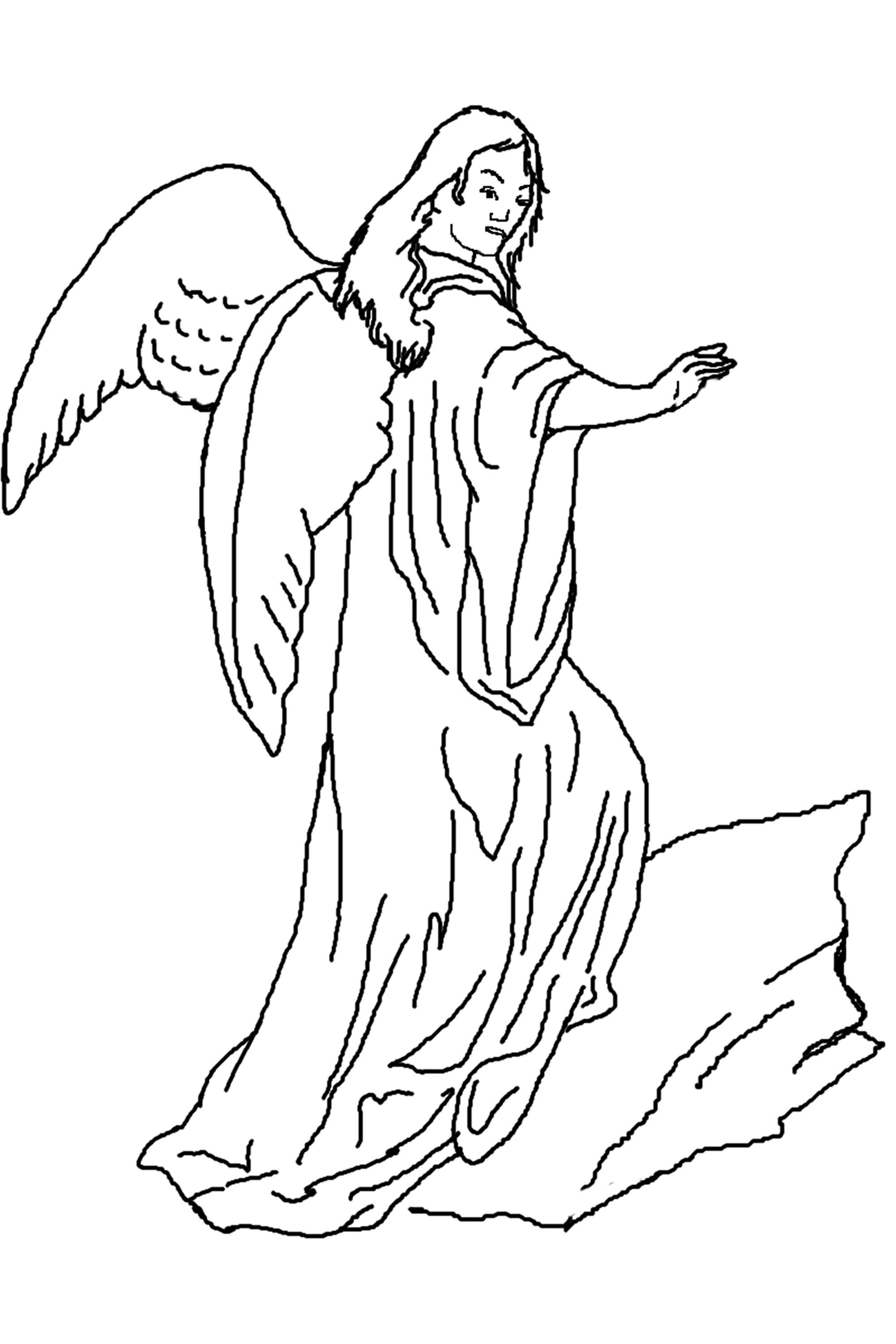 Angel Coloring Pages for Toddlers