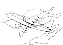 Childrens Colouring Activity Sheets Plane