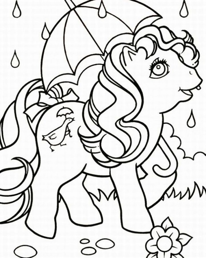 Childrens Colouring Pages to Print Unicorn