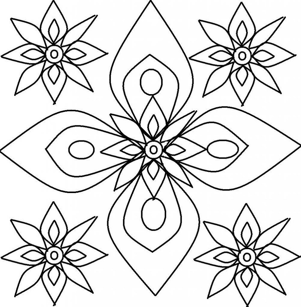 Childrens Colouring Patterns Rangoli