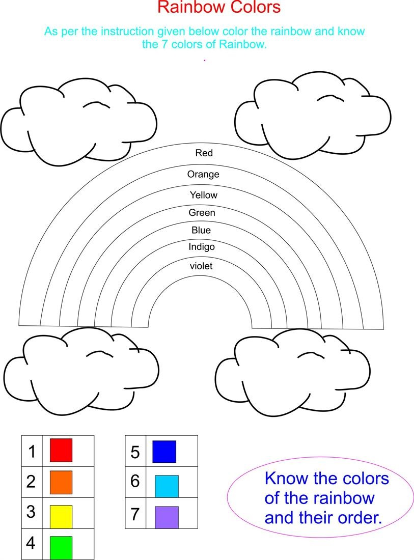 Color Activities for Kindergarten Number