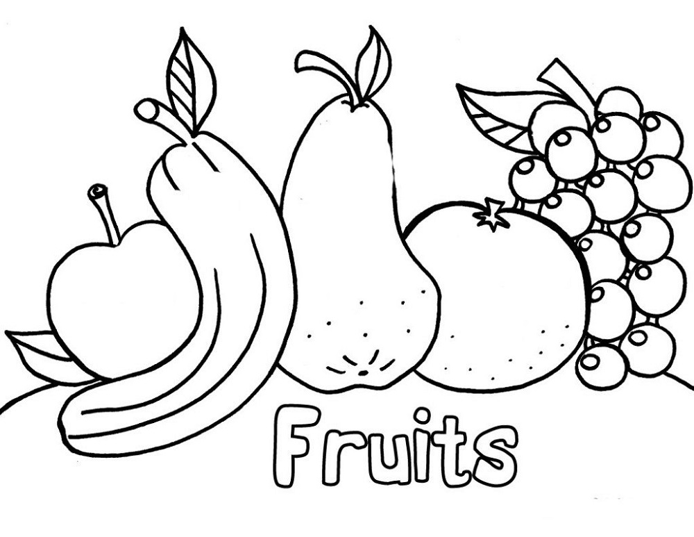 Coloring Pages for Toddlers to Print Fruit
