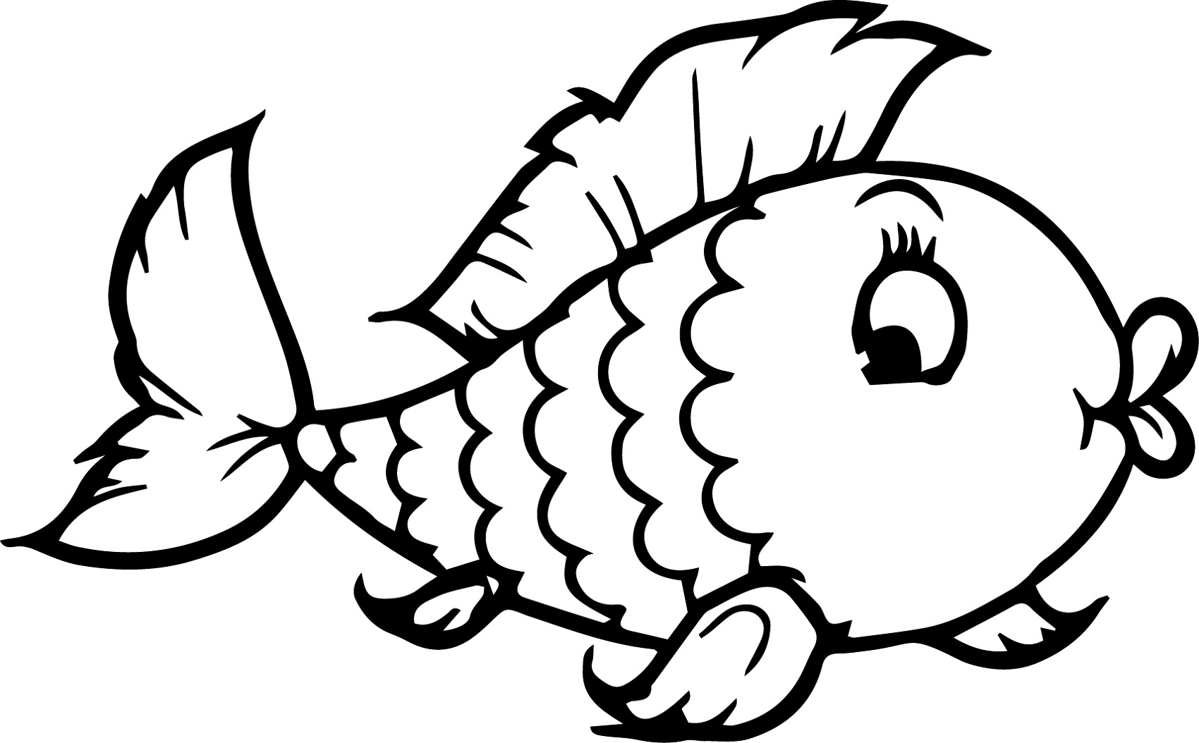 Coloring Sheets for Kindergarten Fish