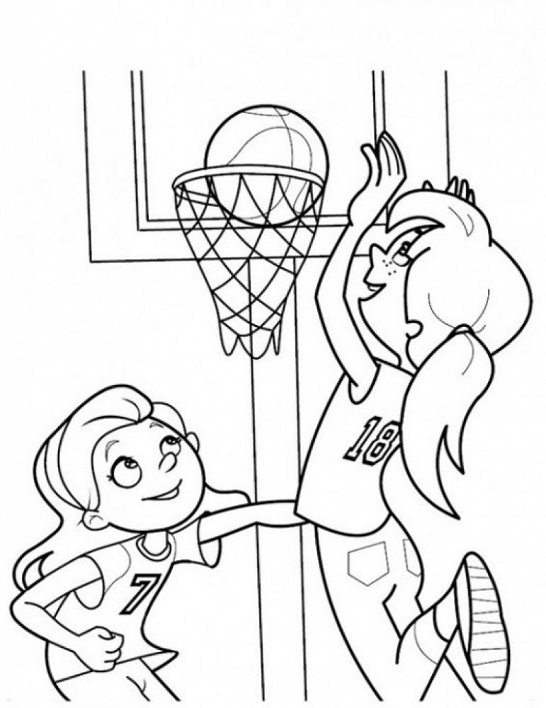 Coloring Sheets for Kindergarten Sport
