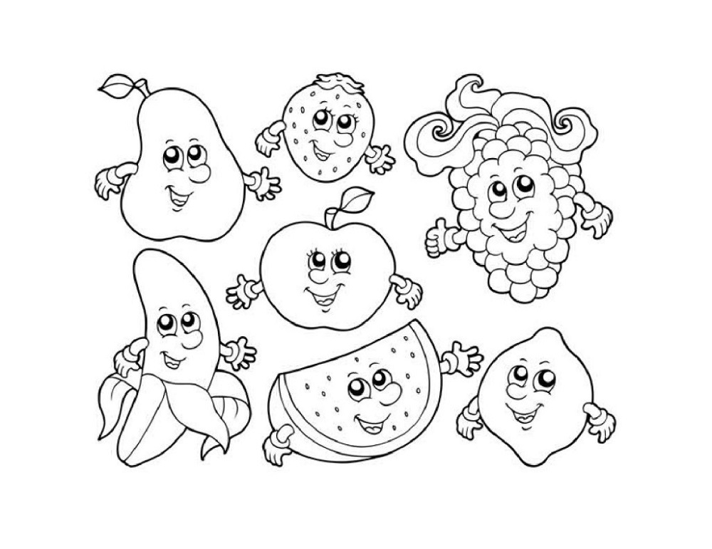 Colouring Pictures for Children Fruit
