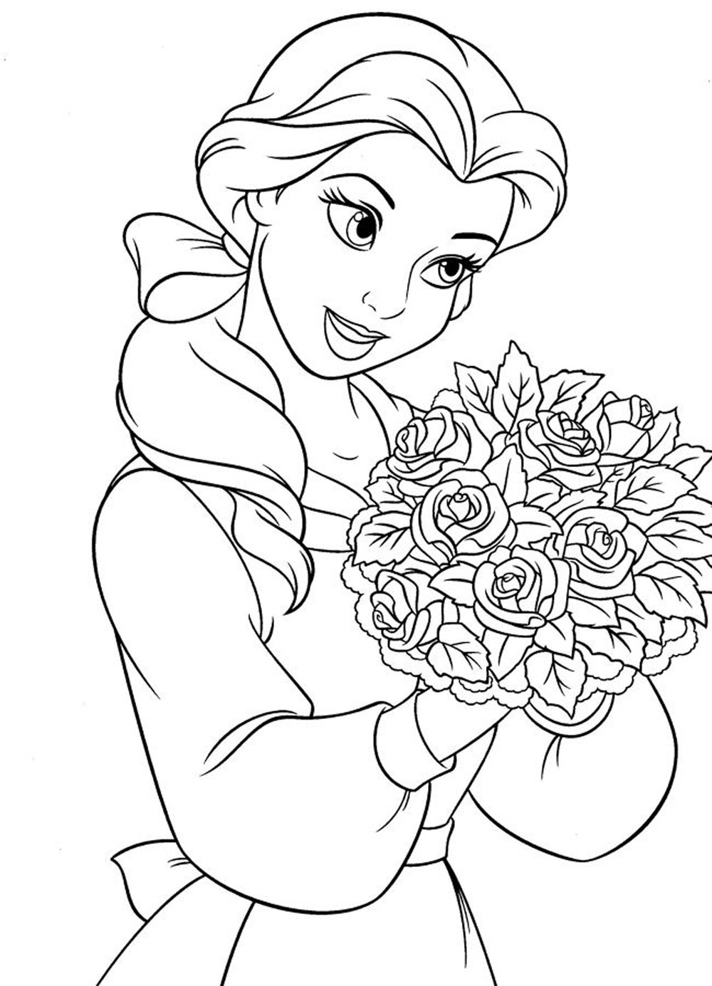 Disney Printable Coloring Pages Girls