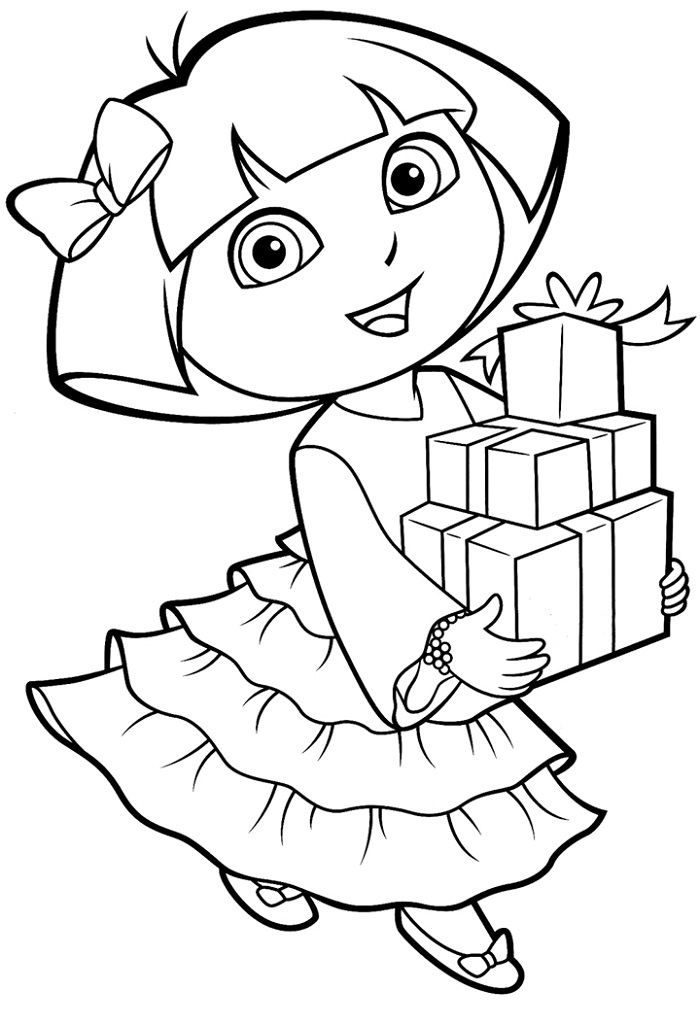 Downloadable Coloring Sheets Dora