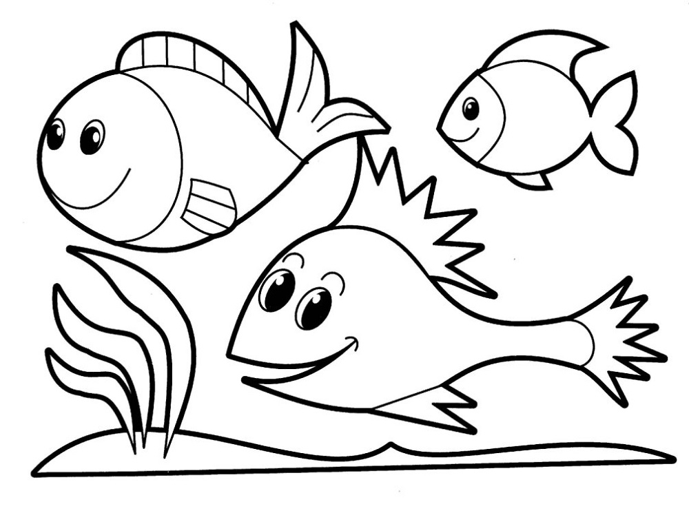 Downloadable Coloring Sheets Fish