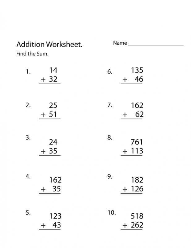 Downloadable Math Worksheets Sum – Learning Printable