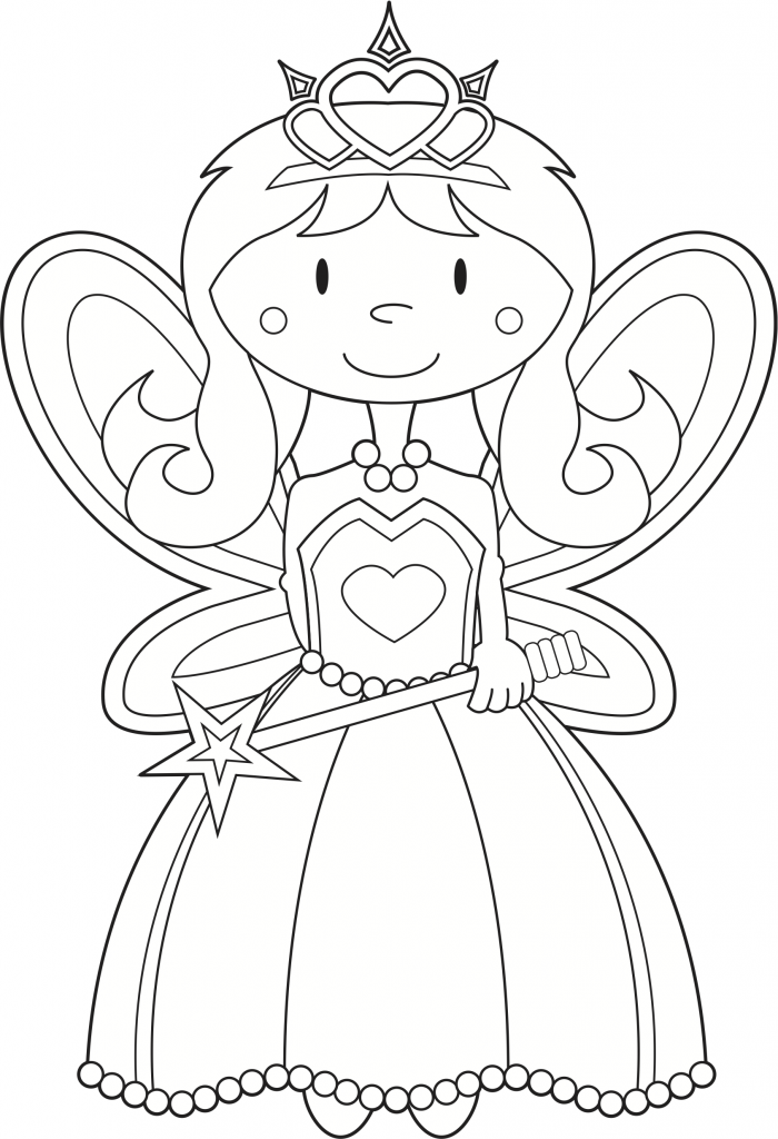 Fairy Coloring Pages for Kids