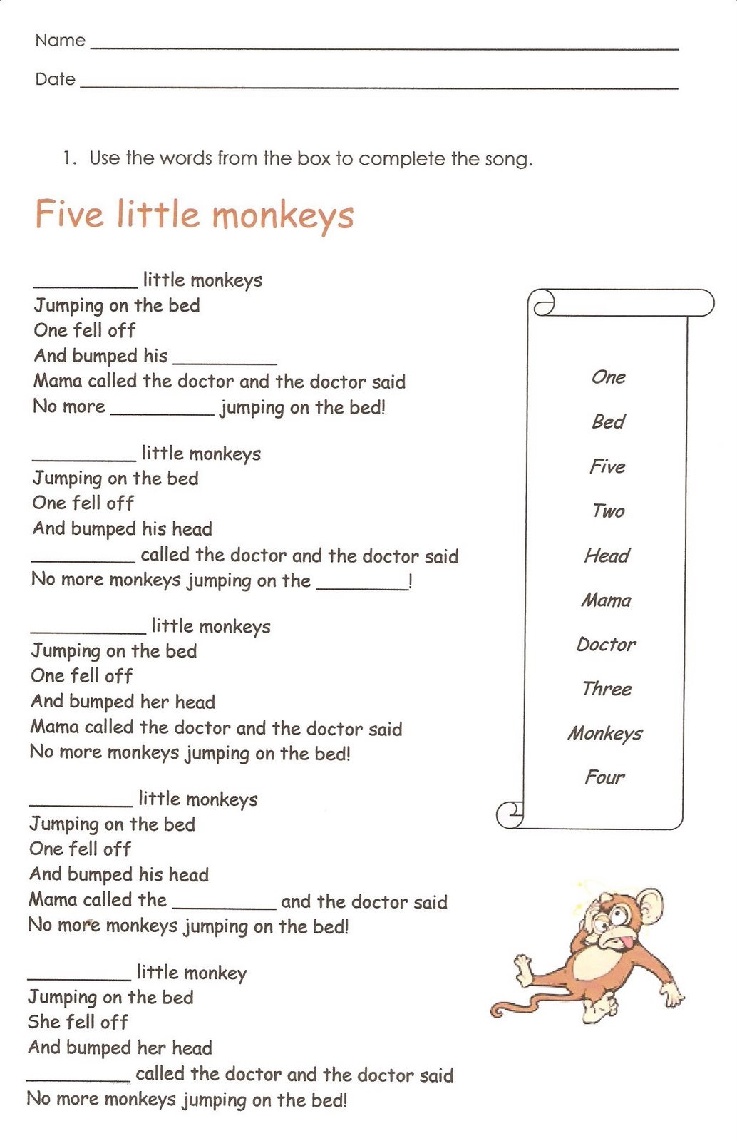 First Grade English Worksheets Writing