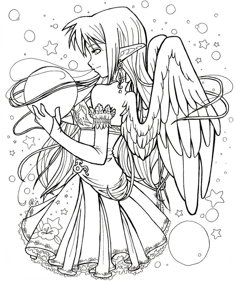 Free Adult Coloring Pages Anime