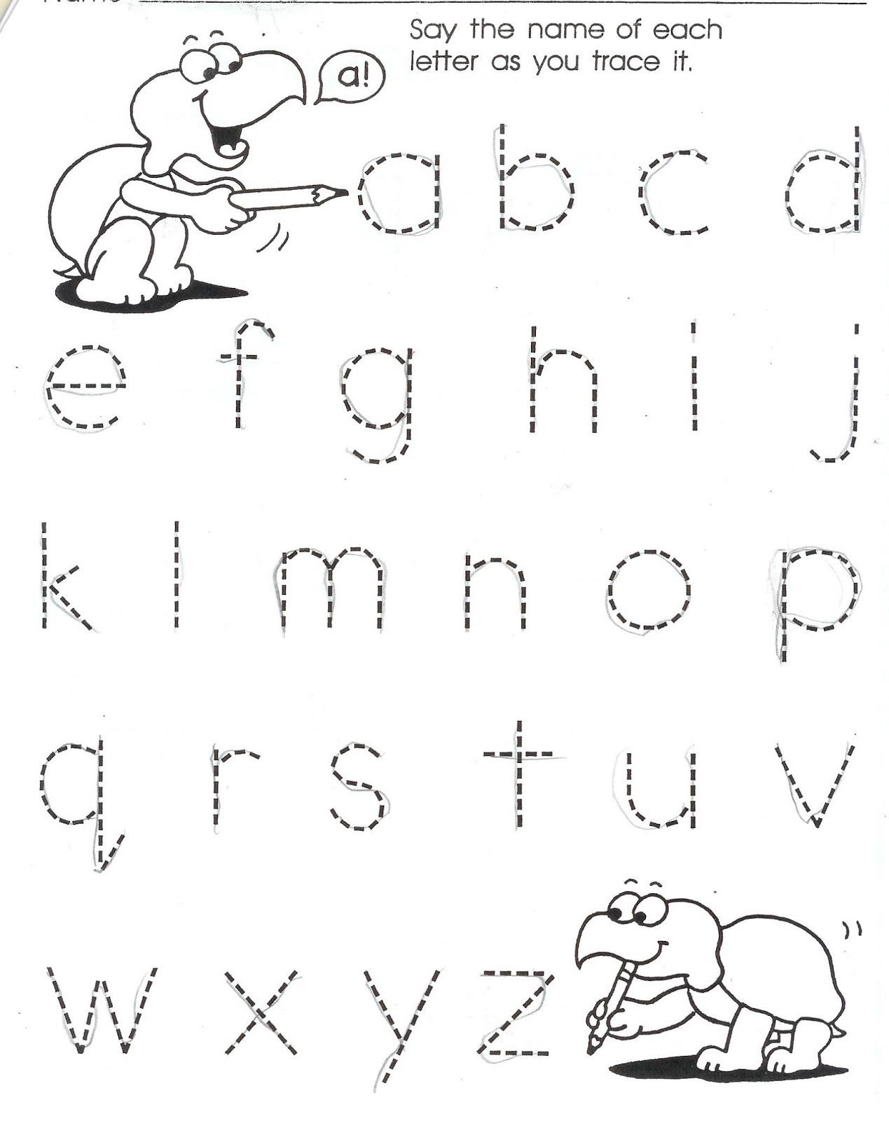 Homework for Kindergarten Worksheets Alphabet
