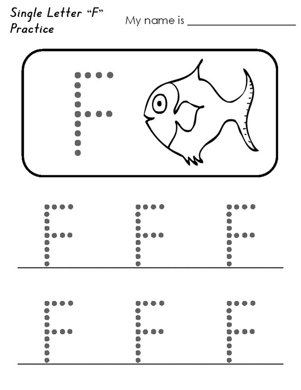 Letter F Worksheet Activities easy