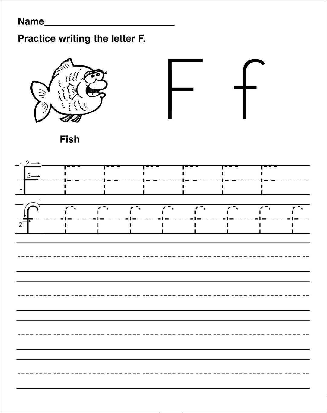 Letter F Worksheet Activities practice