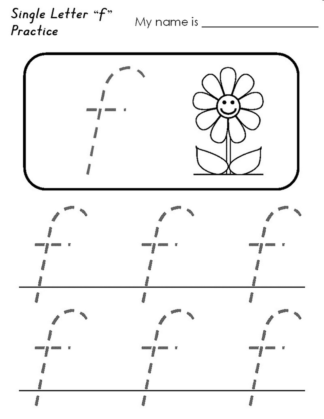 Letter F Worksheet Activities simple
