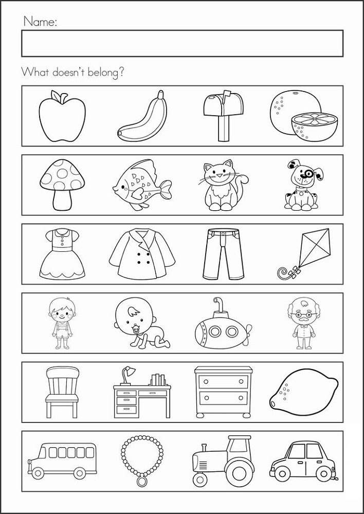 Prep Class Worksheets for Assessment | Learning Printable