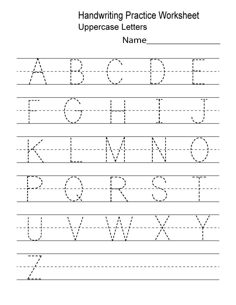 Prep Class Worksheets Handwriting