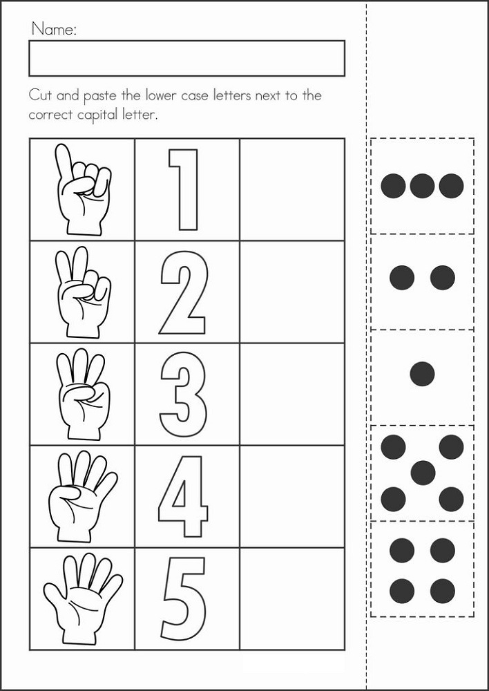 Prep Class Worksheets Number – Learning Printable