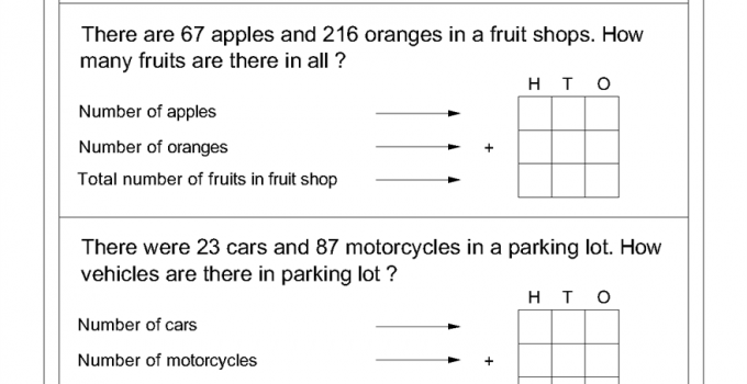 math worksheets for primary school